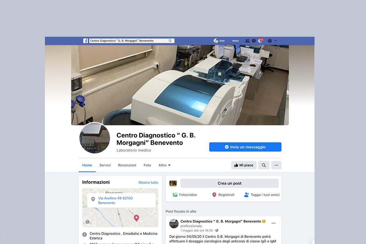 Online le pagine Facebook Ufficiali di Centro Morgagni ed Emodialisi Morgagni